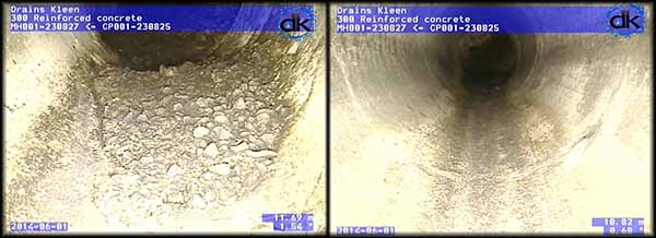 Storm water blocked drain cleaning