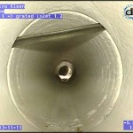 CCTV drain inspection / Pipe Survey - Rubber ring hanging high (from 10-1)