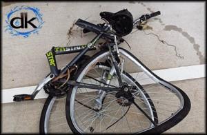 bike in drain