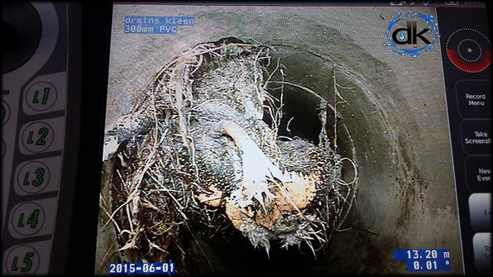 CCTV drain inspection camera, blocked drain