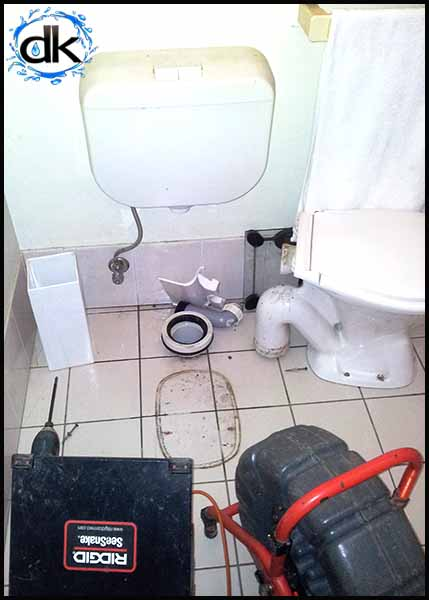 CCTV inspection toilet