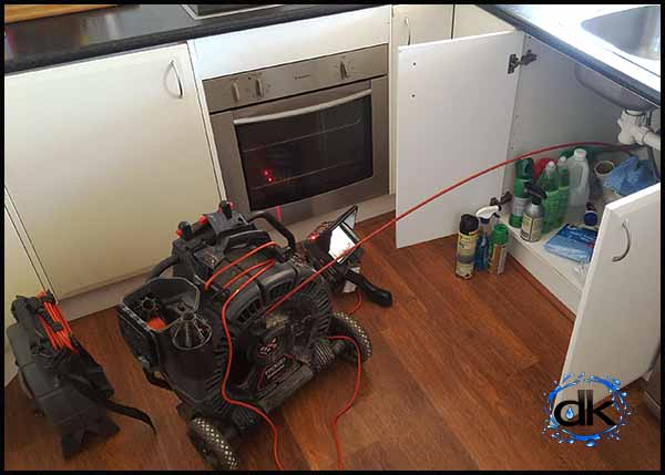 CCTV inspection sink drain